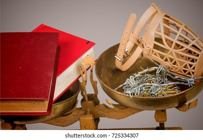 Conceptual shot on education and freedom of speech