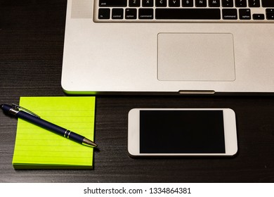 Conceptual shot showing office equipment objects used in day-today operations of an office.