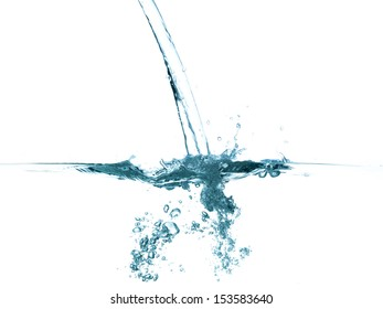 conceptual splashing water or beverage, ocean or a river