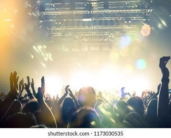 Concert crowd attending a gig