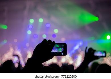 Concert crowd audiance