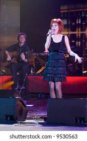 A concert of Julia Savicheva (participant of Eurovision 2004) in Moscow, Gorbunov palace of culture, 14 february, 2008