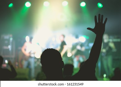 Concert Live Indoors in a Small Club