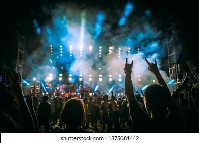 Concert rock festival