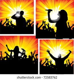 Concert silhouettes.