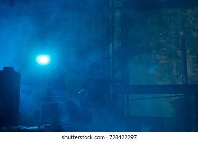 Concert smoke and light
