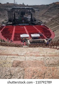 Concert stage at the arena of Verona