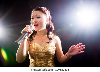 Concert young Asian singer of the girl