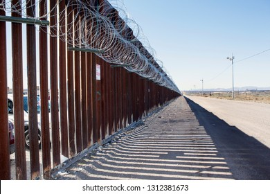 Concertina Wire on the border fence at the Doulas Arizona Port of Entry with Agua Prieta Mexico / Raul Hector Castro Port of Entry