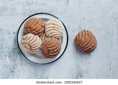 Conchas Mexican sweet bread in Mexico