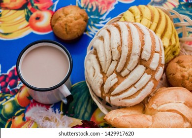 Conchas Mexico, mexican sweet bread traditional bakery of Mexico
