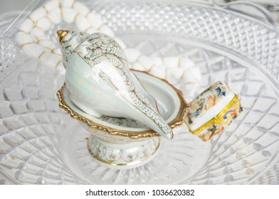 Conch-watered wedding. Use for wedding in Thailand (Tradition)