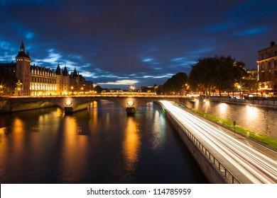 Conciergerie by night, Paris, France