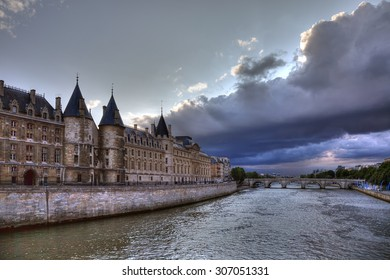 The Conciergerie - is a former prison and the national historical monument, popular tourist attraction, office of the Paris law court, France, Europe