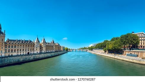 The Conciergerie palace on the Ile de la Cite, Paris, France, Europe