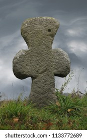 Conciliation cross - stone cross built on the place, where he became a capital crime or disaster, Czech Republic