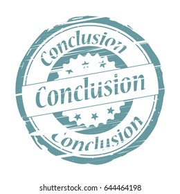 Conclusion grunge stamp.