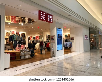 Concord, California, USA - December 1, 2018: Uni Qlo is a Japanese casual wear designer, manufacturer and retailer.