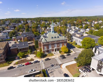 Concord City Hall aerial view in downtown Concord, New Hampshire NH, USA.
