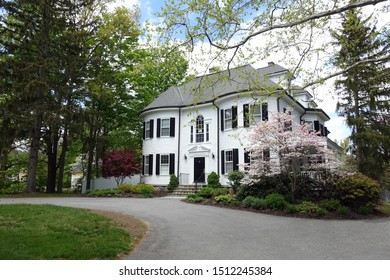 CONCORD, MA / USA - May 2018: A Stunning Home in Downtown Concord, Massachusetts