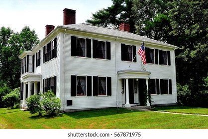 Concord, Massachusetts - July 9, 2013:  Historic home of  American writer and philosopher Ralph Waldo Emerson where he resided from 1835-1882