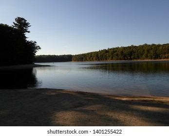 Concord, Massachusetts / USA - 5/18/2019: Walden Pond and Walden Pond State Reservation