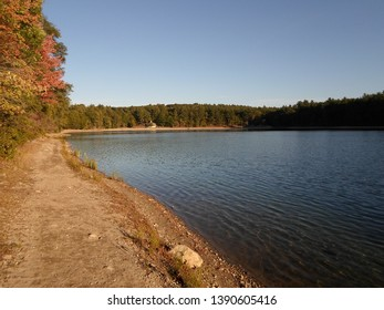 Concord, Massachusetts, USA - 5/6/2019: Walden Pond and Walden Pond State Reservation