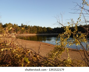 Concord, Massachusetts / USA - 5/8/2019: Walden Pond and Walden Pond State Reservation