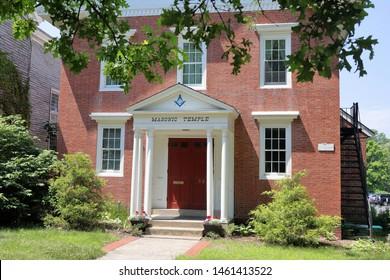 Concord, MA./US -070619: Concord Masonic Corporation, Concord, MA.