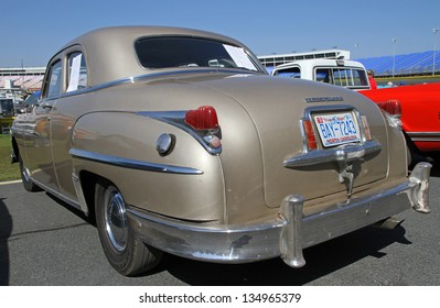 CONCORD, NC - APRIL 6:  A 1949 Chrysler Windsor automobile on display at the Food Lion Auto Fair classic car show at Charlotte Motor Speedway in Concord, NC, April 6, 2013.
