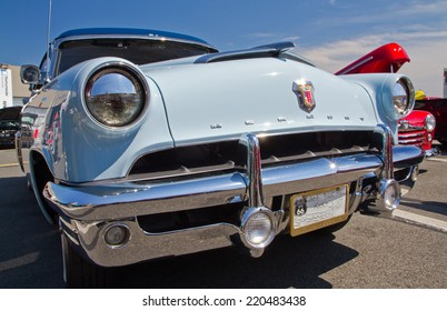 CONCORD, NC -- SEPTEMBER 20, 2014:  A 1952 Mercury automobile on display at the Charlotte AutoFair classic car show held at Charlotte Motor Speedway.