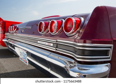 CONCORD, NC - September 7, 2018: A 1965 Chevy Impala SS automobile on display at the Pennzoil AutoFair Classic Car Show at Charlotte Motor Speedway.