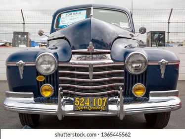 CONCORD, NC (USA) - April 6, 2019:  A 1941 Oldsmobile on display at the Pennzoil AutoFair Classic Car Show at Charlotte Motor Speedway.