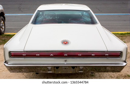 CONCORD, NC (USA) - April 6, 2019:  A 1966 Dodge Charger automobile on display at the Pennzoil AutoFair Classic Car Show at Charlotte Motor Speedway.