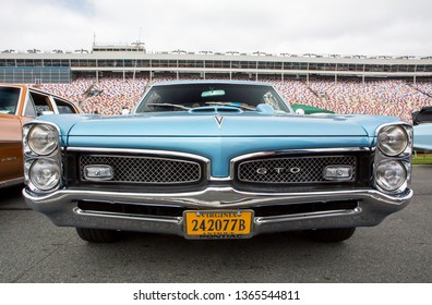 CONCORD, NC (USA) - April 6, 2019:  A 1967 Pontiac GTO automobile on display at the Pennzoil AutoFair Classic Car Show at Charlotte Motor Speedway.