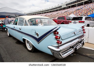 CONCORD, NC (USA) - April 6, 2019:  A 1959 DeSoto automobile on display at the Pennzoil AutoFair Classic Car Show at Charlotte Motor Speedway.