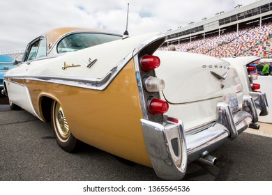 CONCORD, NC (USA) - April 6, 2019:  A 1956 DeSoto automobile on display at the Pennzoil AutoFair Classic Car Show at Charlotte Motor Speedway.