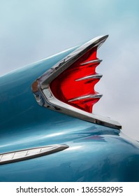 CONCORD, NC (USA) - April 6, 2019:  A 1960 DeSoto automobile on display at the Pennzoil AutoFair Classic Car Show at Charlotte Motor Speedway.