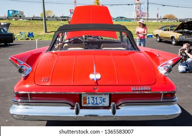 CONCORD, NC (USA) - April 6, 2019:  A 1961 Chrysler 300 G automobile on display at the Pennzoil AutoFair Classic Car Show at Charlotte Motor Speedway.