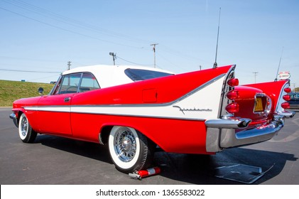 CONCORD, NC (USA) - April 6, 2019:  A 1958 DeSoto automobile on display at the Pennzoil AutoFair Classic Car Show at Charlotte Motor Speedway.