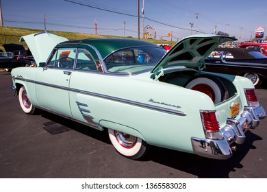 CONCORD, NC (USA) - April 6, 2019: A 1954 Mercury Monterey Sun Valley automobile on display at the Pennzoil AutoFair Classic Car Show at Charlotte Motor Speedway.