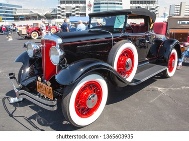 CONCORD, NC (USA) - April 6, 2019:  A 1931 Studebaker automobile on display at the Pennzoil AutoFair Classic Car Show at Charlotte Motor Speedway.
