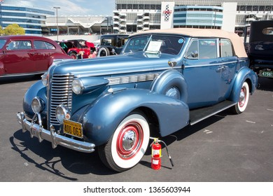 CONCORD, NC (USA) - April 6, 2019:  A 1938 Buick Roadmaster automobile on display at the Pennzoil AutoFair Classic Car Show at Charlotte Motor Speedway.