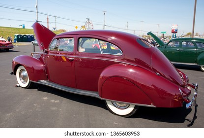 CONCORD, NC (USA) - April 6, 2019:  A 1938 Lincoln Zephyr automobile on display at the Pennzoil AutoFair Classic Car Show at Charlotte Motor Speedway.