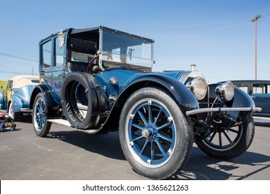 CONCORD, NC (USA) - April 6, 2019:  A 1915 Pierce-Arrow automobile on display at the Pennzoil AutoFair Classic Car Show at Charlotte Motor Speedway.