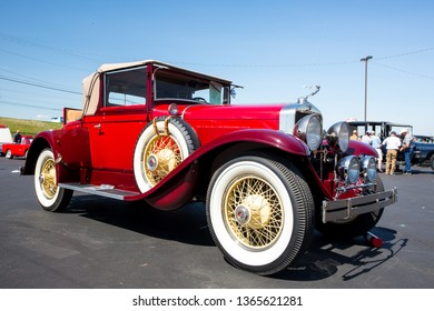 CONCORD, NC (USA) - April 6, 2019:  A 1928 LaSalle automobile on display at the Pennzoil AutoFair Classic Car Show at Charlotte Motor Speedway.
