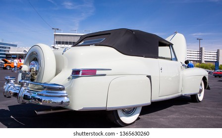 CONCORD, NC (USA) - April 6, 2019:  A 1946 Lincoln Continental automobile on display at the Pennzoil AutoFair Classic Car Show at Charlotte Motor Speedway.