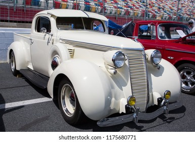 CONCORD, NC (USA) - September 7, 2018: A 1937 Studebaker pickup truck on display at the Pennzoil AutoFair Classic Car Show at Charlotte Motor Speedway.