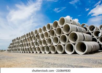 Concret pipes