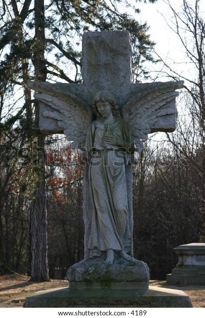 concrete angel tombstoneguarding